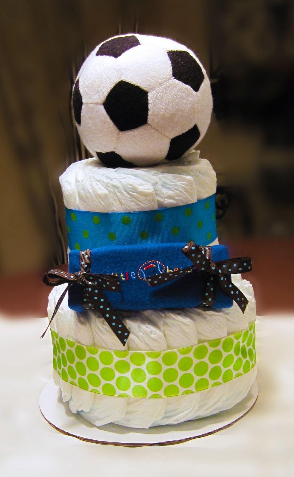 Little Soccer Superstar Small 2 Tier SGD Diaper Cake