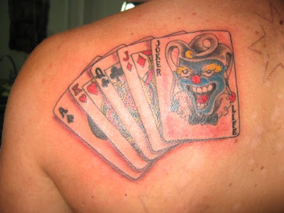 Here's one awesomely sick tattoo. As Queen Jack King Joker Card Tattoo
