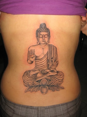 Buddha Lower Back Tattoo Design