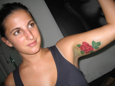 Women Tattoos with Flower Rose Tattoo Designs 7