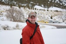 Walking in the snow at the fish hatchery - 2010