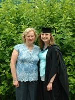 Mum and I at graduation - 2009
