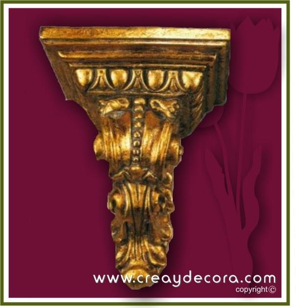 Decoralia manualidades m nsula dorada con pintura oro - Pintura dorada para madera ...
