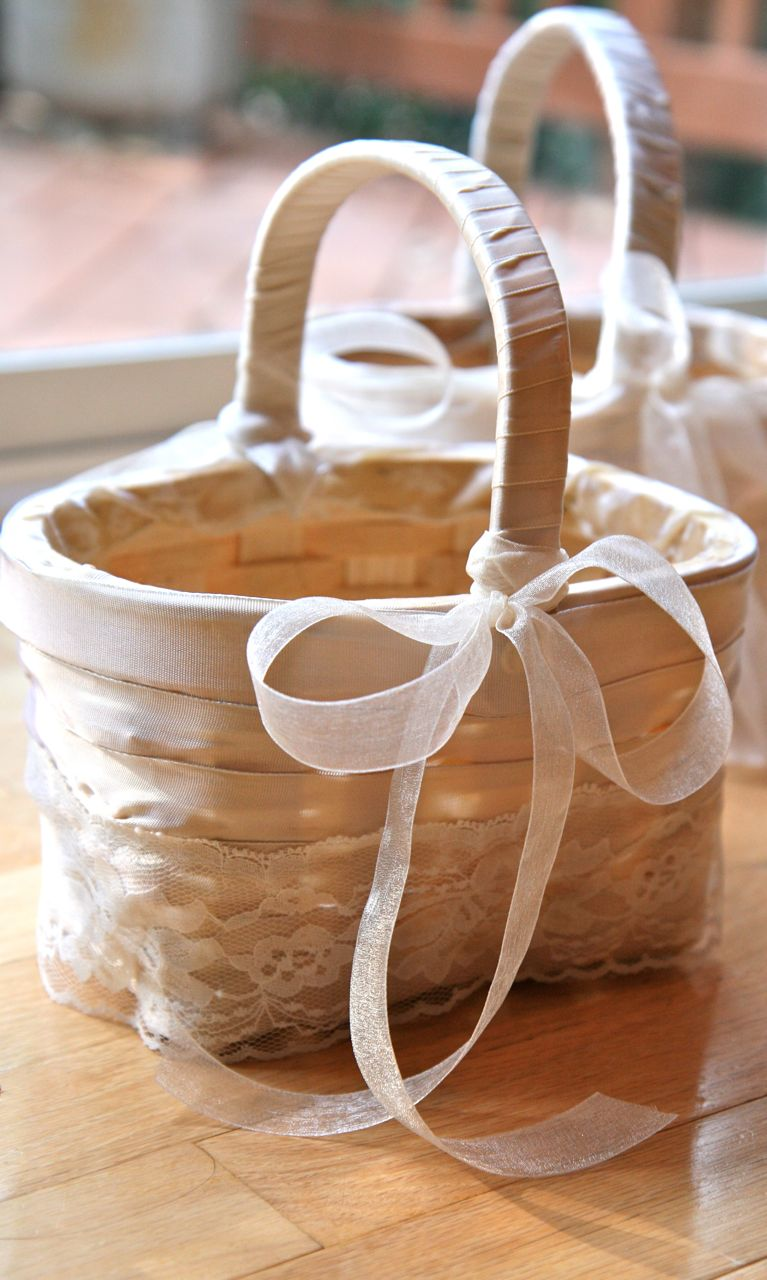 How To Make Flowers Girl Basket : Vita nostra handmade flower girl baskets and other