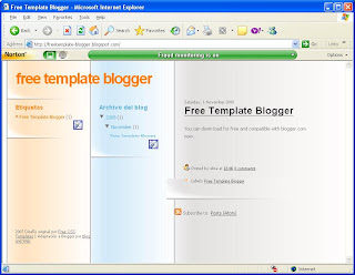 Template blogger free