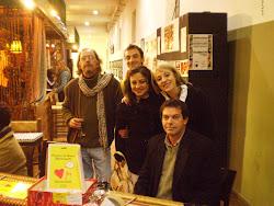O fotógrafo, Mário André, Abhay Charan e a professora,Clarice Freitas
