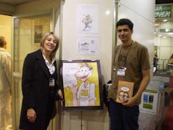 Com o incansável batalhador, Danilo Marques, ilustrador da AEILIJ SP.