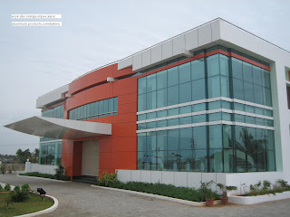 front elevation structural glazing aluminium composite panel and acp ...