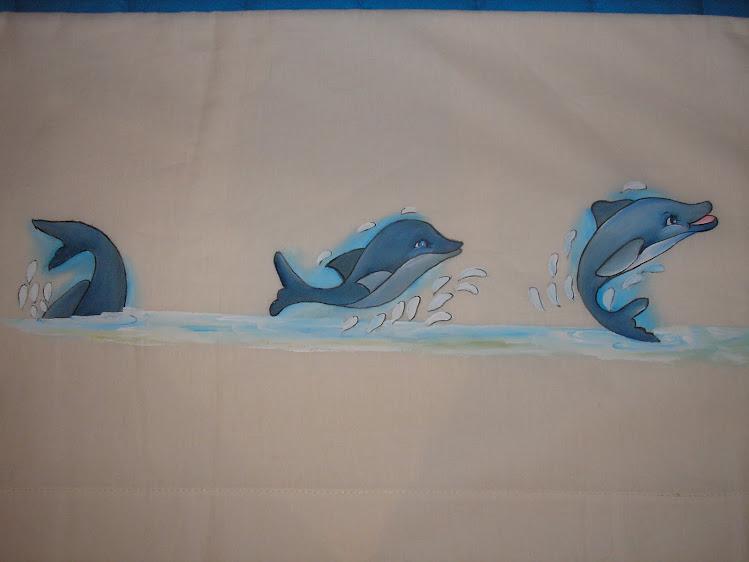 Lençol  com golfinhos