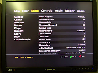 my  GTA IV speedrun stats