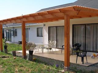 Construcciones rio bueno terrazas y cobertizos for Cobertizo de madera para terraza