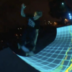 Tron Legacy Skateboarding Light Show 2