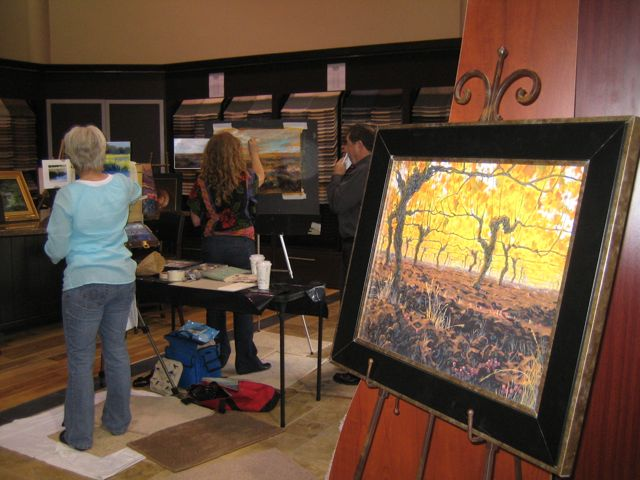 This Past Weekend, Amatou0027s Artistsu0027 Christy Perrine And Brenda Boylan Were  Invited To Demonstrate Their Talents At Macadam Flooring And Design Center  In ...
