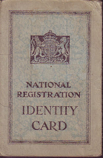 National registration identity card, 1943, Second World War, World War Two, World War 2, WWII, History, Home Front, Manchester