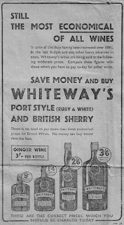 Advertisement,Whiteway's wine,Buxton Advertisor, 1940,Second World War, World War Two, World War 2, WWII, WW2, History, Home Front, Buxton