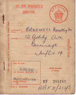 General ration book, July 1940, Second World War, World War Two, World War 2, WWII, History, Home Front, Manchester, Ration book, Rationing