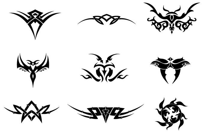 Set de vectores tribales en diferentes formas y dise o son ideales para ser