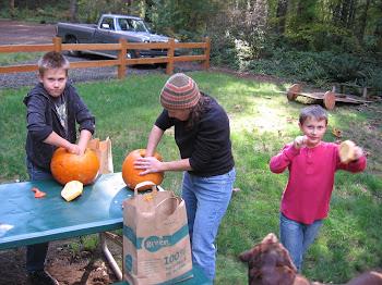 Gutting Pumpkins!