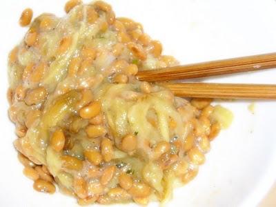 納豆に焼きナス感覚