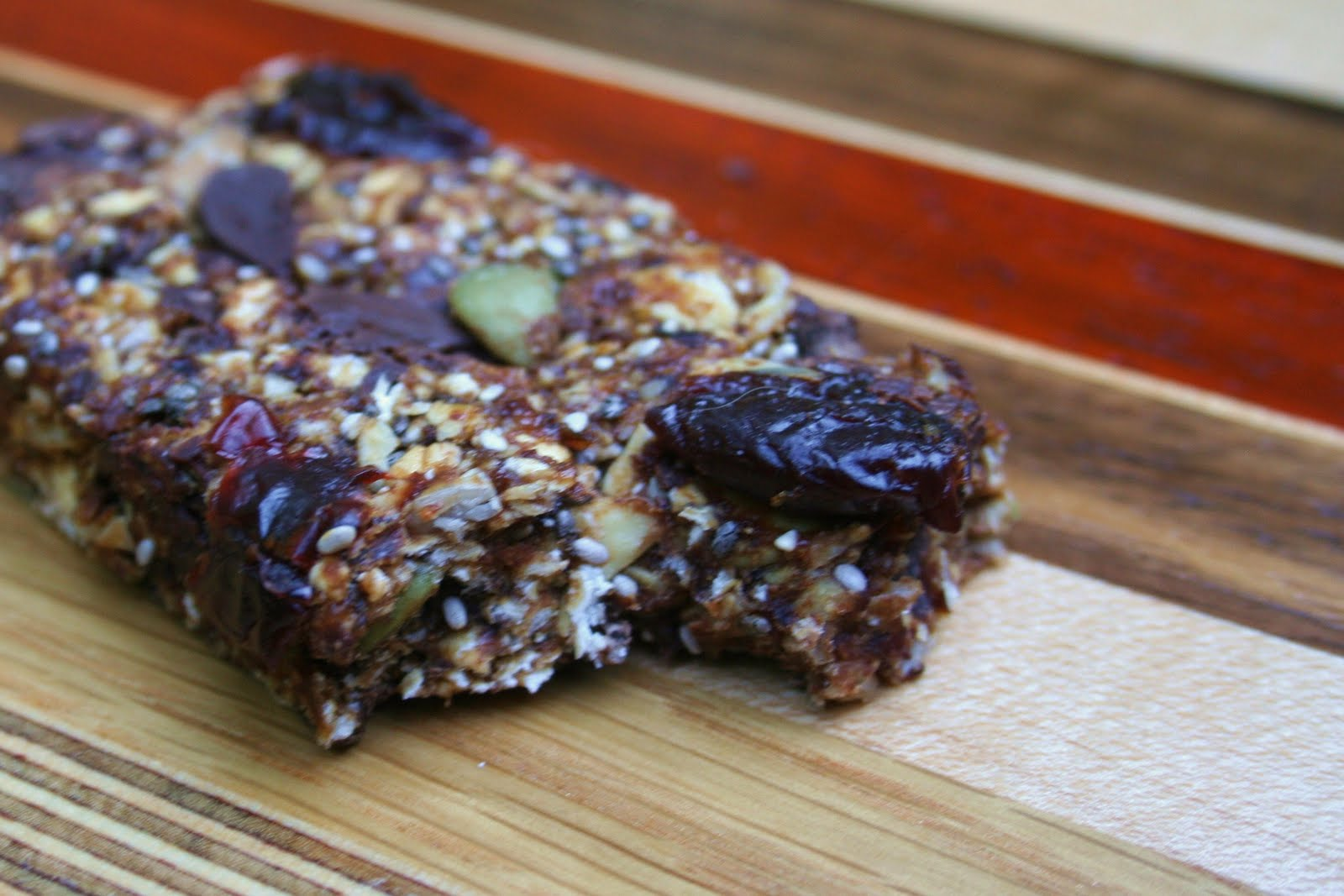 granola bars with coconuts and cacao