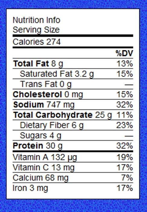 tuna fish can nutrition facts