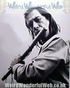 Image:David Carradine playing flute