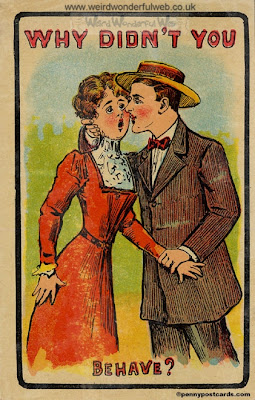 IMAGE:Old-fashioned postcard-Behave