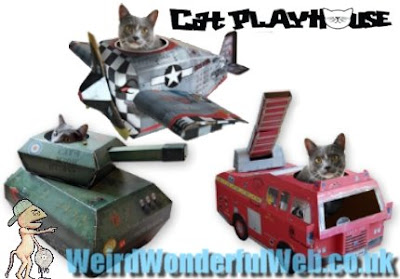 IMAGE: Cat Playhouse cardboard designs
