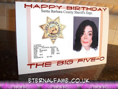 IMAGE: Michael Jackson 50th birthday card