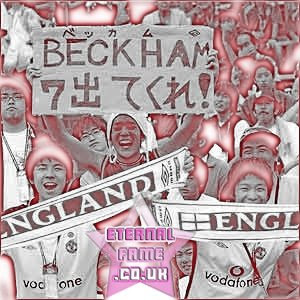 IMAGE: Japanese fans of David Beckham