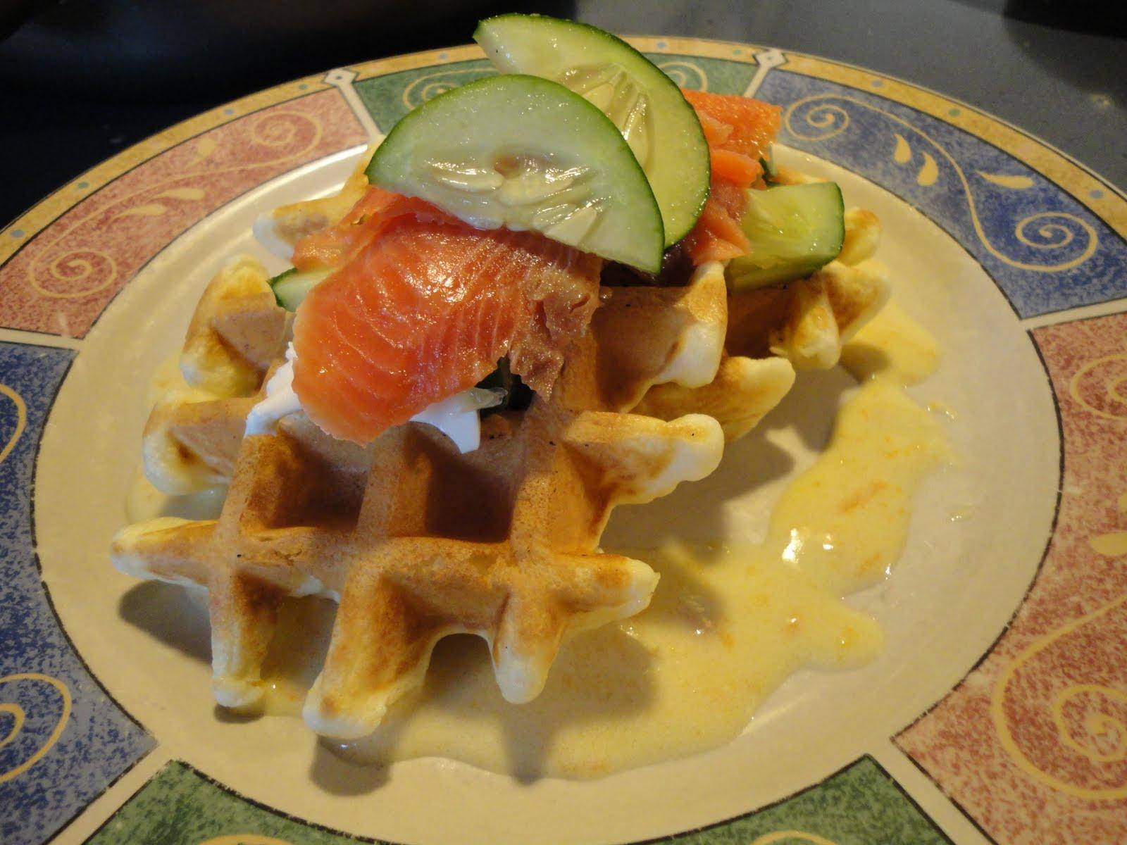 Gaufres au saumon fum et beurre blanc l 39 orange ou l for Beurre en special cette semaine
