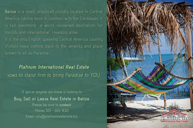 Platinum International Real Estate and Investments - Belize Division.