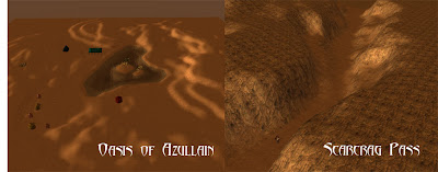 Early shots of the Oasis of Azullain and Scarcrag Pass