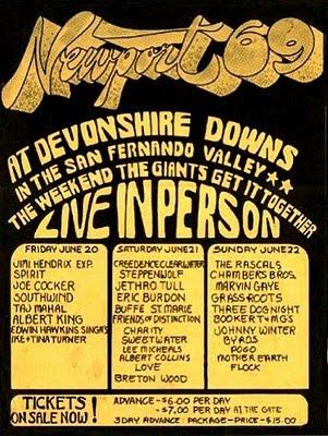 Jimi Hendrix, Newport 69 Festival, Newport Pop Festival 1969