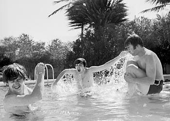 John Lennon, John Lennon Swimming Pool, Beatles, Fab Four, Beatles Pool, Beatles Swimming, Beatles Miami,