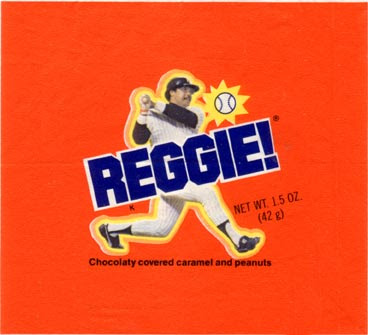 reggie jackson, yankees, reggie bar wrapper