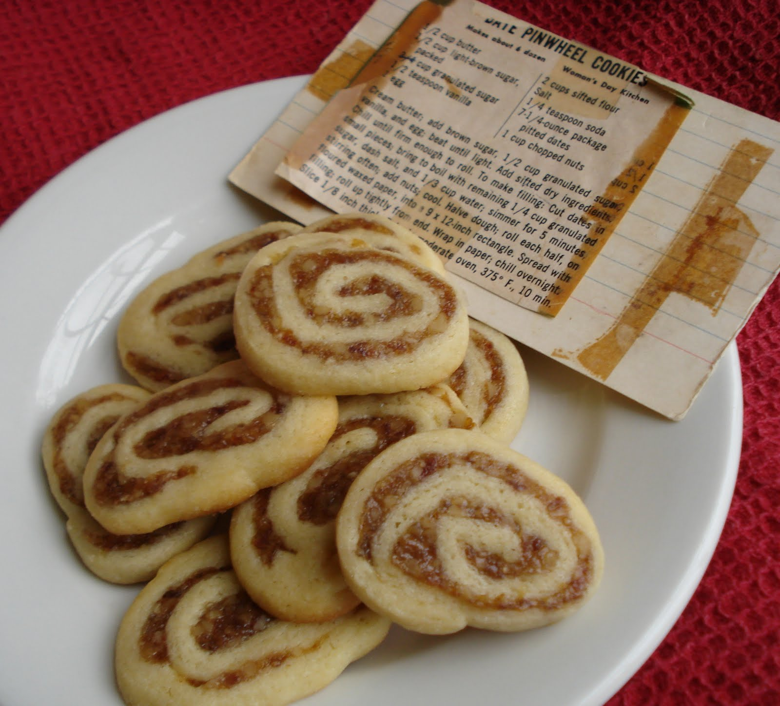 Date Pinwheel Cookies - From Valerie's Kitchen