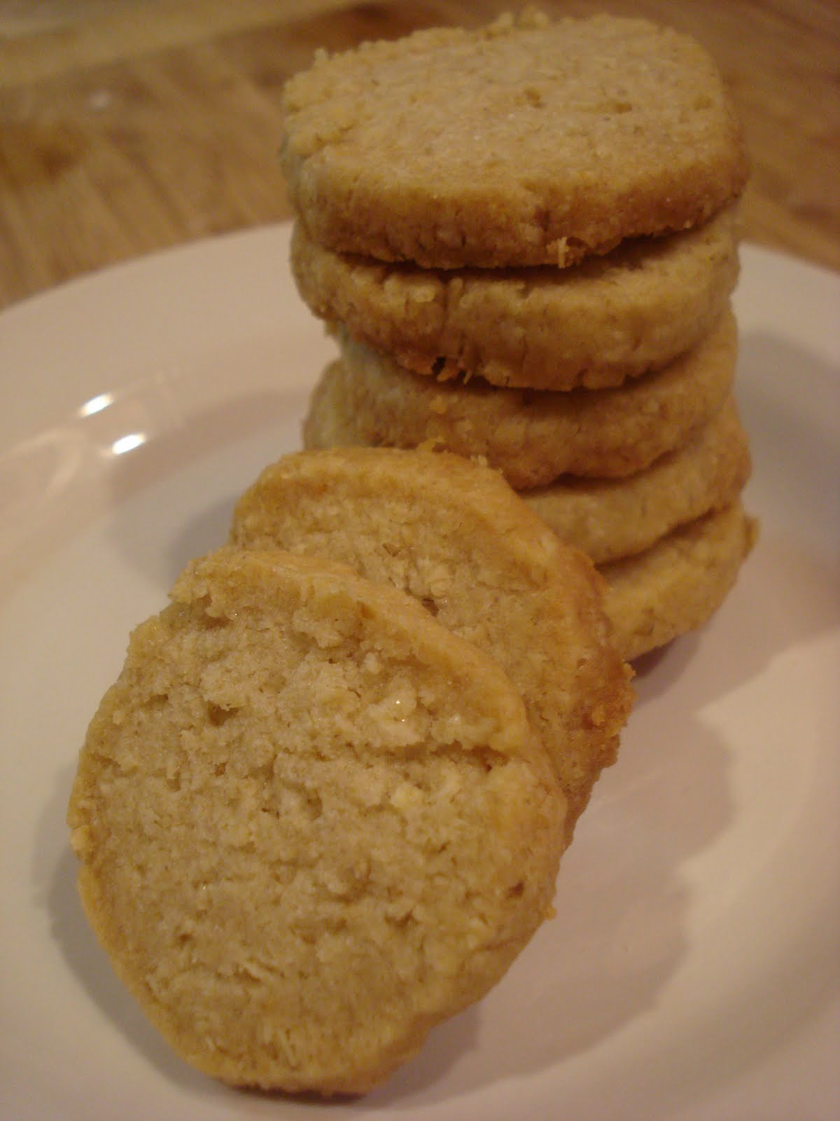 Oat Shortbread Cookies