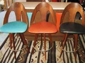 1950s Bar With Three Stools, $350: