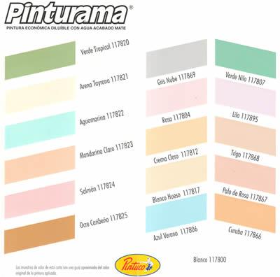 Pintura para paredes for Tabla de colores pintura interior