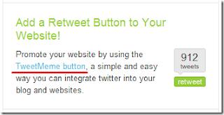 adcionando botão retweetwe no blog