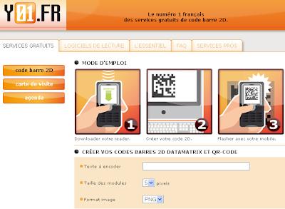 Y01 Est Un Service De Codes Barres 2D Au Format Ouvert
