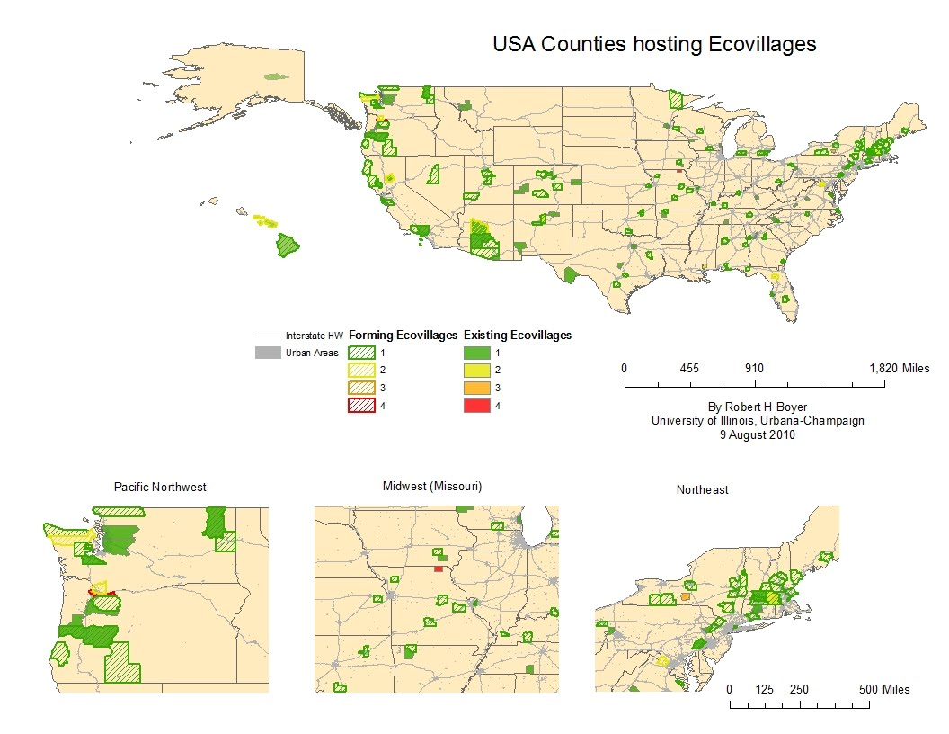 Evolutionary City Thoughts On Urban And Regional Planning A Map - Map of pacific northwest usa