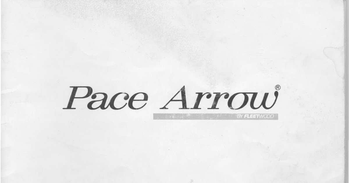 1983 fleetwood pace arrow owners manuals  1983 fleetwood