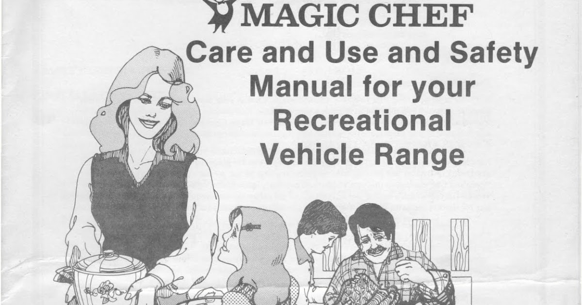 1983 Fleetwood Pace Arrow Owners Manuals: Magic Chef RV