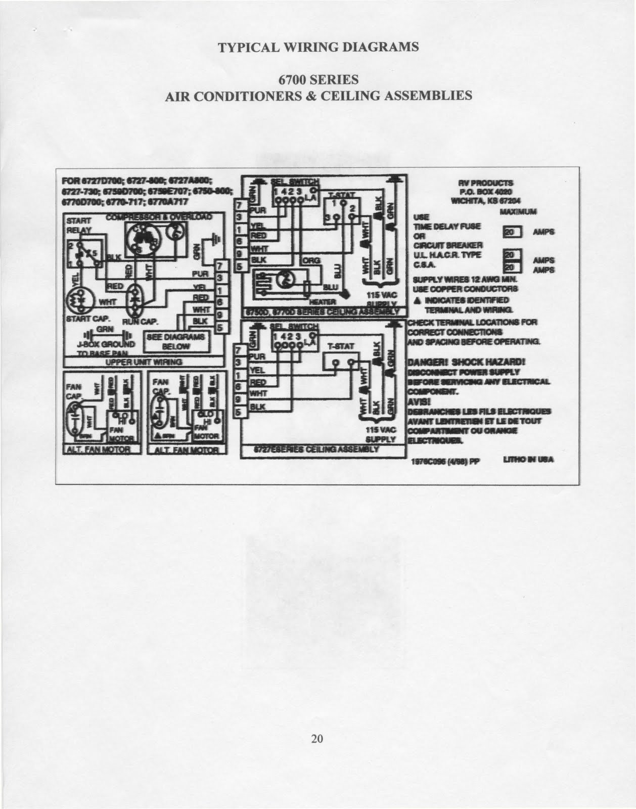 Outstanding Coleman Rv Ac Wiring Diagram Ornament - Electrical ...