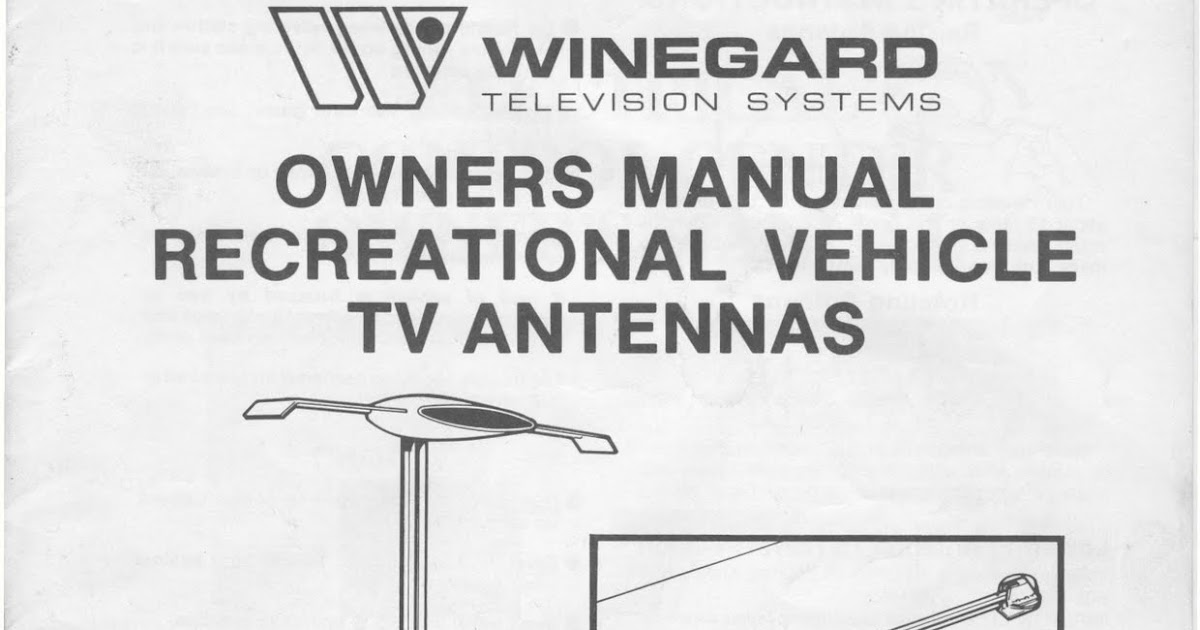 1983 Fleetwood Pace Arrow Owners Manuals  Winegard Rv Tv