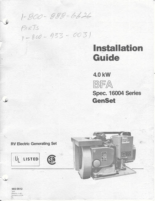 1983 fleetwood pace arrow owners manuals onan 4 0 kw bfa genset spec 16004 series installation