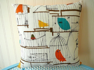 Olive: 50s Birdcage Pillow