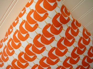 Olive: Gaggle Of Geese - Orange and White - Pillow Cover